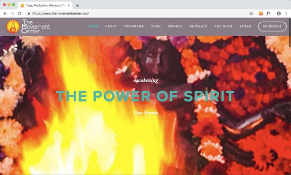 tmc yoga frontend web design